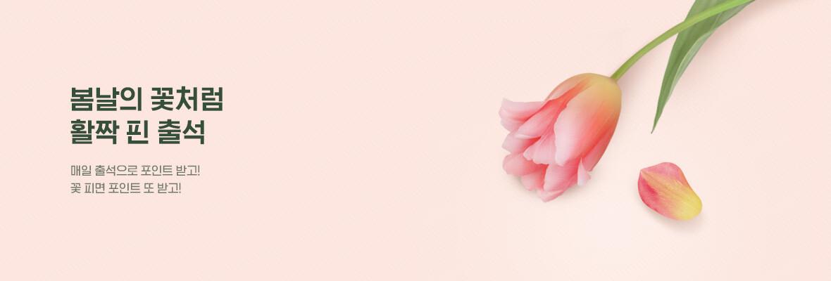 봄날의 꽃처럼 활짝 핀 출석